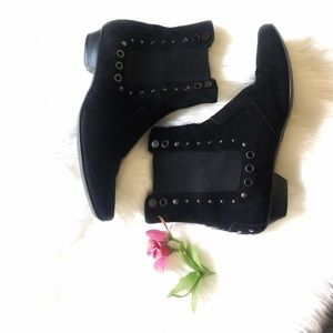 Tods Black Suede Genuine Leather Ankle Boot